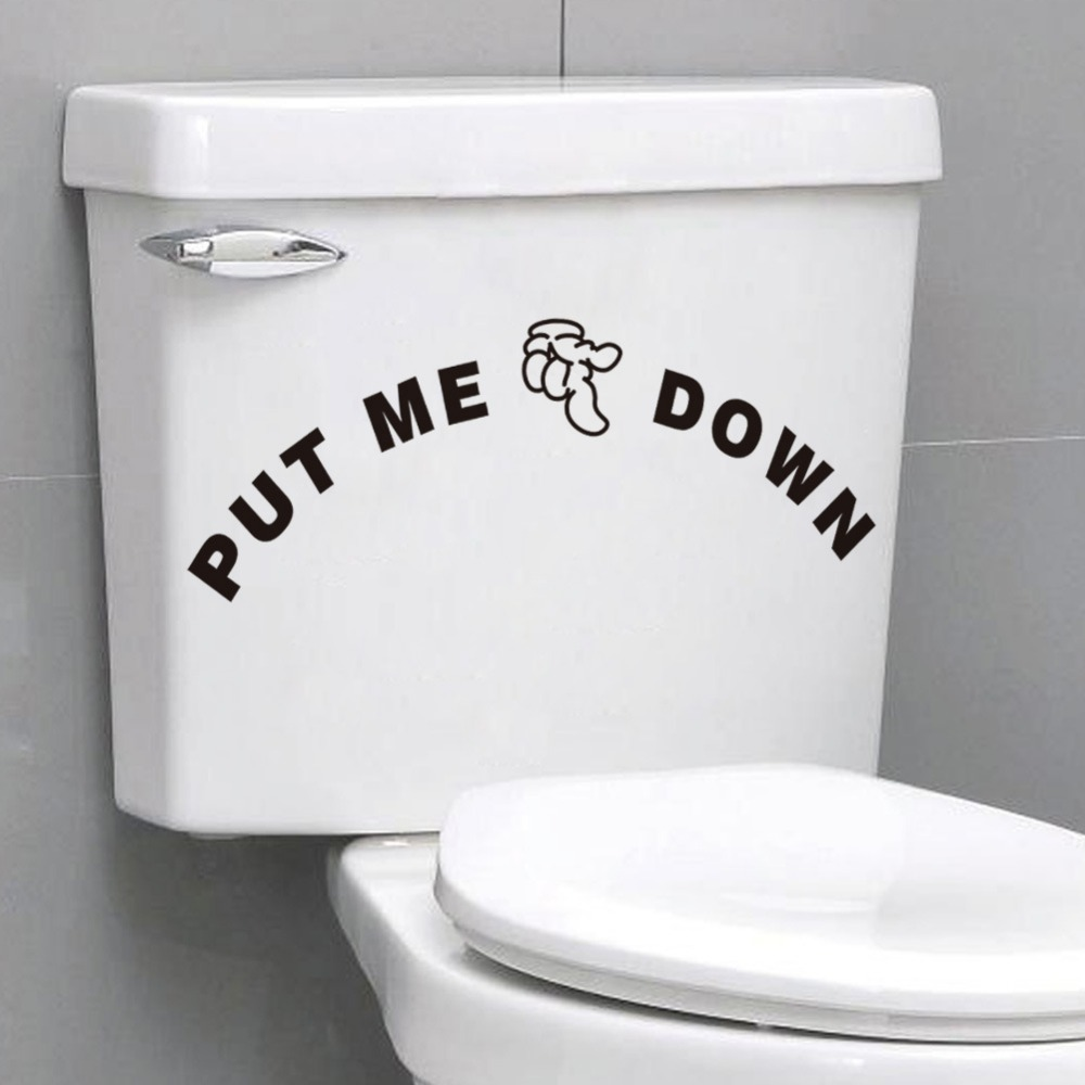 Funny PUT ME DOWN Toilet stickers Bathroom Toilet Seat Sign ...