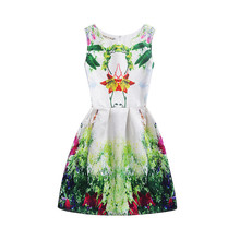 Matching Mother and Daughter Summer Floral Formal Party Dress