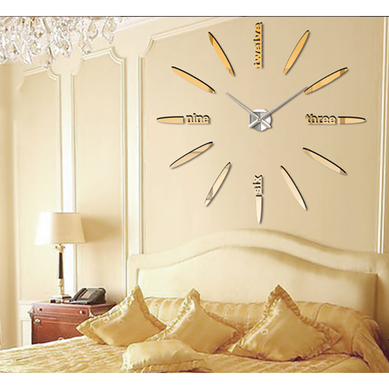 oversized wall clock creative diy 3d art and fashion wall clock creative living room wall