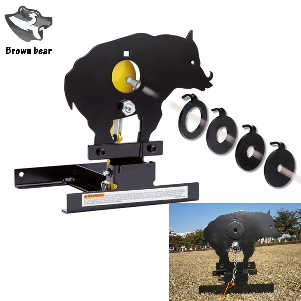 Airgun Boar Field Target W. 4 Bullseyes' Ring Target Shooting Or Also For Airsoft Paintball Shooting