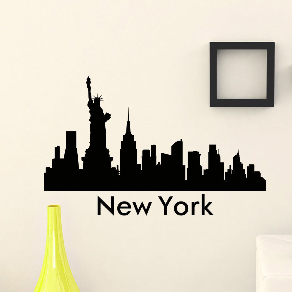 Small Crop Of New York City Skyline Silhouette