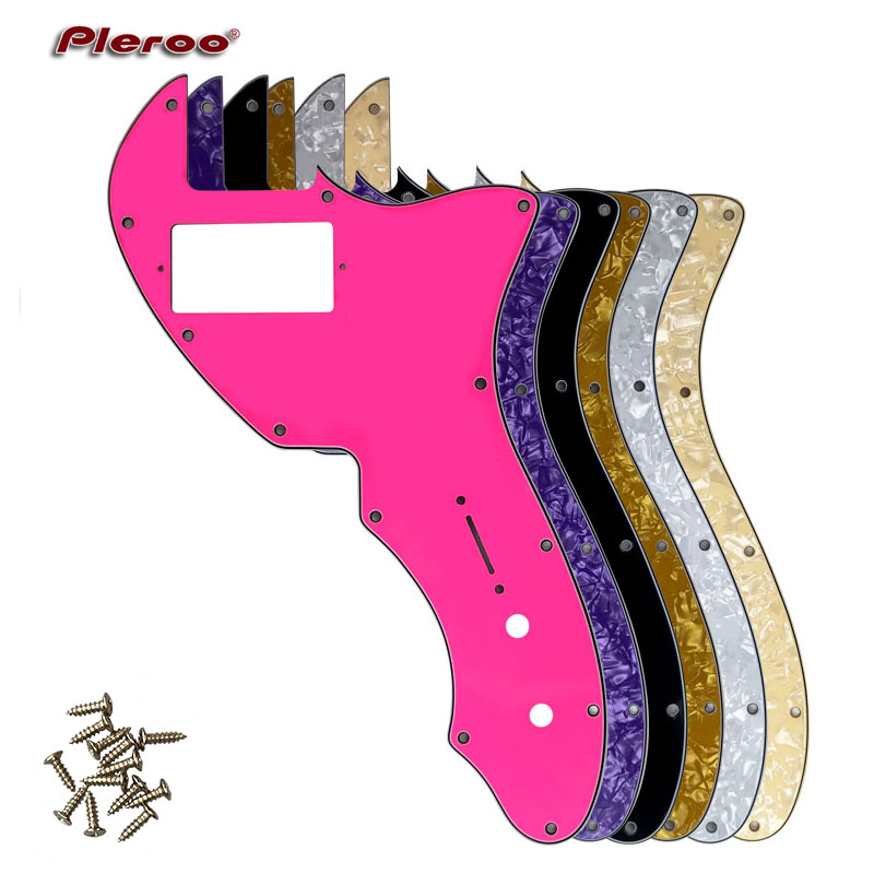 Pleroo Custom Guitar Parts - For US Thinline Tele 69 Guitar Pickguard With PAF Humbucker Scratch Plate, Multicolor Choice
