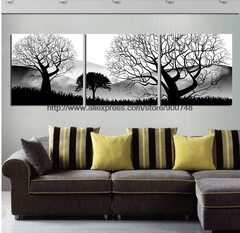 Aliexpress.com : Buy 3 Piece Wall Art Black And White