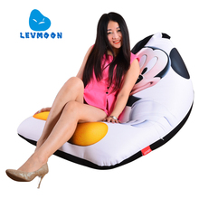 LEVMOON Beanbag Sofa Chair Mouse Print Seat zac Comfort Bean Bag Bed Cover Without Filler Cotton Indoor Beanbag Lounge Chair