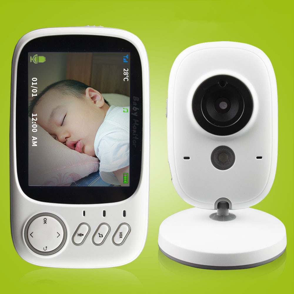 3 2 inch wireless video color baby monitor high resolution baby nanny securit. Black Bedroom Furniture Sets. Home Design Ideas