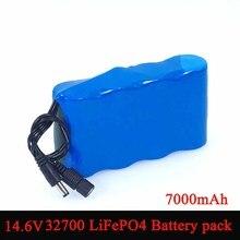 Varicore 14.6 v 10 v 32700 lifepo4 bateria 7000 mah alta descarga 25a máximo 35a para brocas elétricas varrendo bateria
