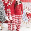 Рождество Семья С Детьми Олень Пижамы Пижамы Пижамы Установить Пижамы Семейный Пакет Мужчины
