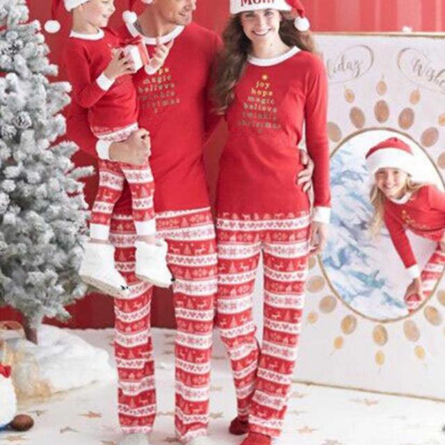 Natal Da Família Com Crianças Veados Pijamas roupa Pijamas Set Pijamas Família Pacote Homens