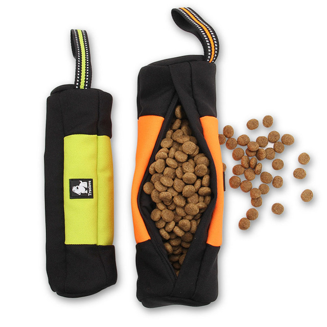 High Quality Nylon and 3M Reflective Air Mesh Pet Dogs Food Bag Cylinder Style Convenience Carry to Taining Feeder Dogs