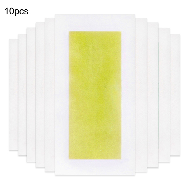 10pcs Summer Professional Hair Removal Wax Strips For depilation Double Sided Cold Wax Paper For Bikini Leg Body Face