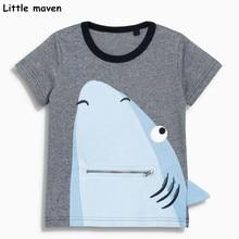 Kis maven gyerekek 2018 nyári bébi fiúk ruhák rövid ujjú póló cápa nyomtatás pamut márka tee felső 50993