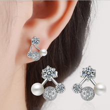 Everoyal Luxury Crystal Round Jewelry Earrings For Women Bijou Charm 925 Sterling Silver Female Accessories Trendy Gift