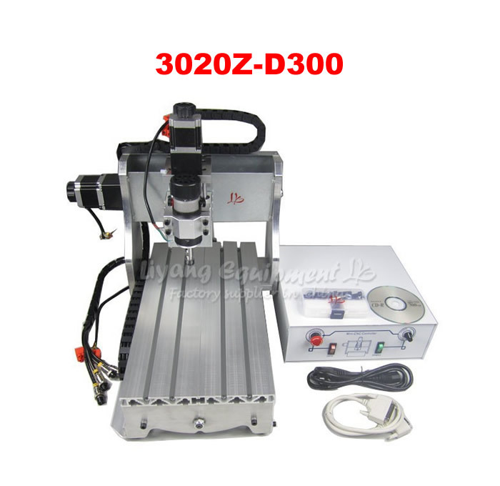3020Z-D300 mini desktop CNC engraving machine with ball screw and 300W spindle cnc 3020 mini desktop engraving machine 2030 drilling