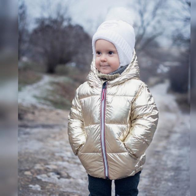 3b93a2cc0 Winter Jacket for boy girls winter Snowsuit Down Jacket Puffer Parka  Metallic kids Outerwear Warm Children's
