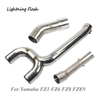 For Yamaha FZ1 FZ6 FZ6N FZ6S FZ8 FZ8N Stainless Steel 51 mm Mid Link Pipe Motorcycle Exhaust System Connecting Converter Slip On