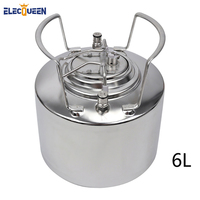 Stainless Steel 304 Beer OB Keg 6L with Ball Lock Cornelius style Fitting Pepsi kegs and soda wine barrel with Metal Handles