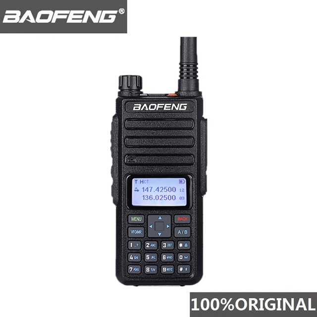 Baofeng DM 1801トランシーバー10キロデュアル時間スロットアナログdmrラジオwalkyトーキープロデュアルバンドdm 1801ラジオcomunicador