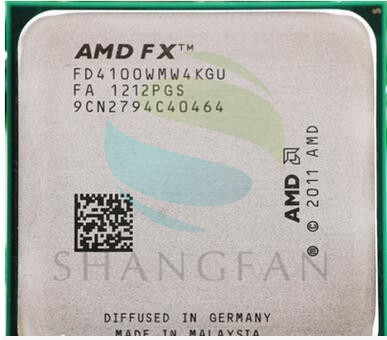 AMD FX4100 FX 4100 3.2 GHz Quad-Core CPU Processeur FD4100WMW4KGU 95 W Socket AM3 +