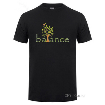 2019 nuevo diseño creativo de manga corta 100% algodón Casual crear Balance hombres camiseta Color diversificado pareja camisetas