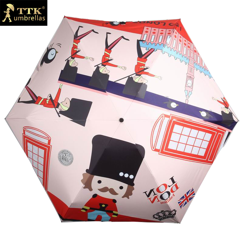 birthday gift children umbrella mini 5 fold umbrella boy cute - Household Merchandises