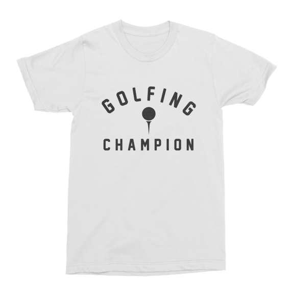 Golfing T-Shirt Golfing Champion T-Shirt Funny Mens Cotton T-Shirt Golfing Funny Mens T-Shirt-C127