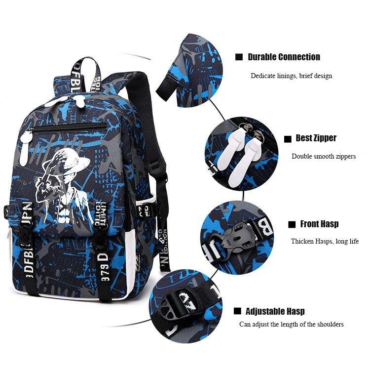 Rains Pan Anime Date A Live Tokisaki Kurumi Oxford Laptop Bag Backpack