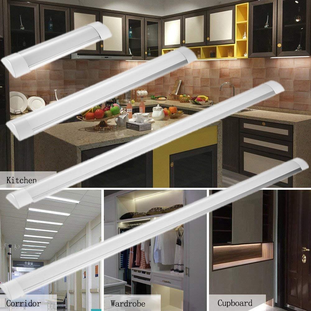 30cm/60cm/90cm/120cm LED Batten Tube LinearLight Tri-Proof Surface Panel Ceiling Lights 85-265V IP65 Waterproof Tube Bulb