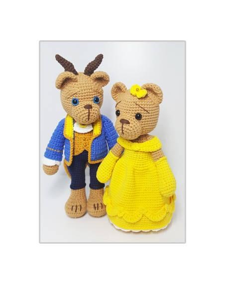 amigurumi lover Husband and wife crochet rattle toy amigurumi crochet doll pretty girl xingxing rattle toy