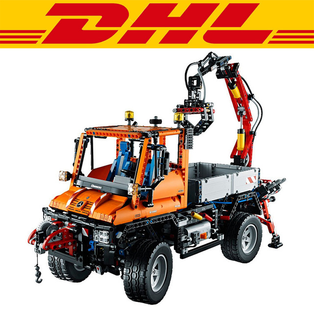 2018 New Standard brick size 2088Pcs Technic Unimog U400 Model Building Kits Blocks Bricks Children Toys 8110