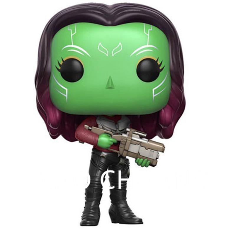 Avengers:Infinity War Guardians Of The Galaxy Q Version Rocket Raccoon Nebula Gamora PVC Action Figure Model Toy G1165
