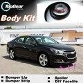 Para Chevrolet Malibu Parachoques Labios Lip/Top Gear Shop Spoiler Tuning/TOPGEAR Kit de Carrocería + Tira