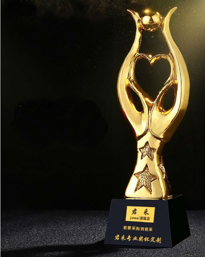 High quality!Stars Cup Creative Gold Plated Resin Trophy Company Annual Meeting Awards Trophy,Free shipping! High quality!Stars Cup Creative Gold Plated Resin Trophy Company Annual Meeting Awards Trophy,Free shipping!