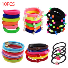 10pcs/lot Women Hair Accessories Elastic Rubber bands Hair Bands Scrunchies Gum Ponytail Holder Ropes Tie Gum цена