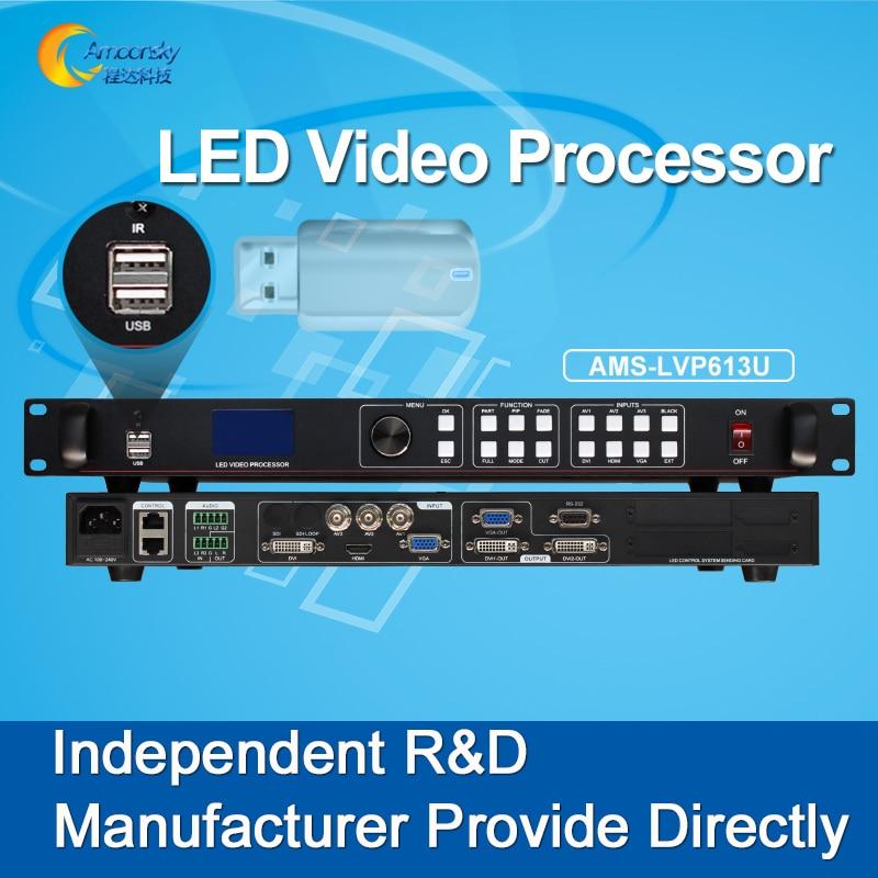 AMS-LVP613U usb input led video processor video switcher hdmi video wall processor