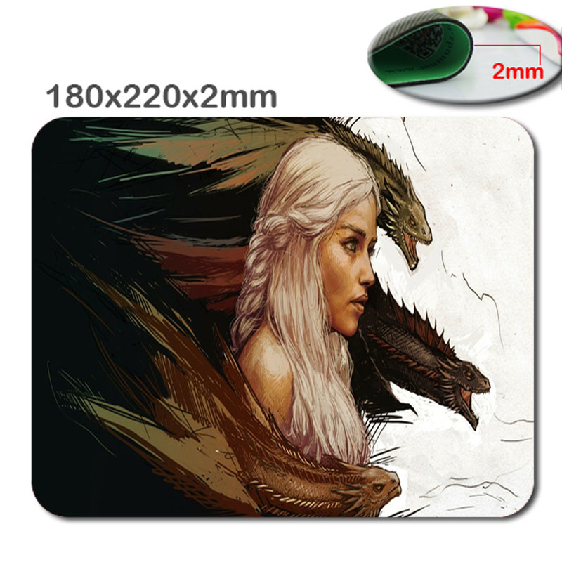 Mairuige Customized Fashion Style Textured Surface Water Resistent Mousepad Dragon Non-Slip Best Large Gaming Mouse Pads