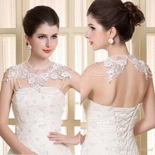 6pcs/lot Elegant Bridal Necklet Lace Embriodered Necklace Shoulder Chains Women's Jewelry Accessories jj015 недорого