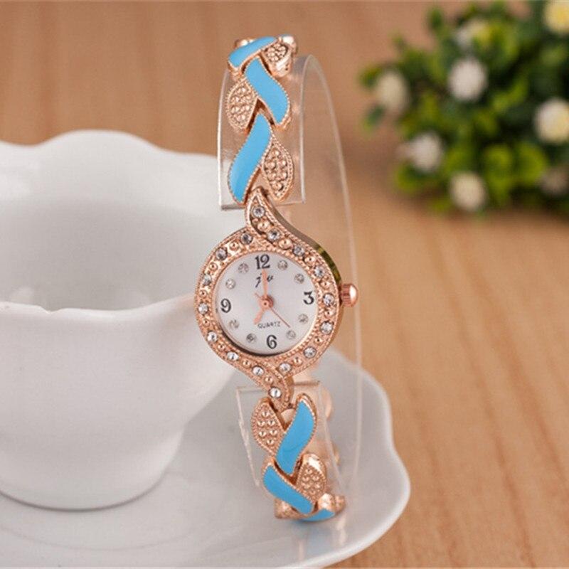 2019 nowy marka JW bransoletki z zegarkiem kobiety luksusowy kryształ sukienka zegarki na rękę zegar moda damska zegarek kwarcowy na co dzień reloj mujer 2
