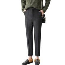 Kpop Harajuku 2018 di Inverno Nuove Signore OL Nero Pantaloni stile harem  Preppy Chic Casual Matita abe59e69f15