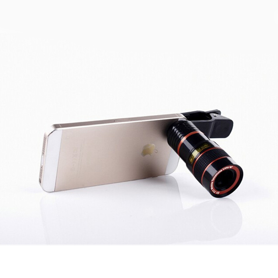 7dcc1acbae44 YIFUTE Lenses Universal Clip 8X Zoom Telephoto Lens HD Mobile Phone Camera  Lenses For Apple iPhone 5 Samsung Xiaomi Redmi Huawei-in Mobile Phone  Lenses from ...
