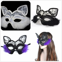 Adult Men Women Costume Party Animal Fox Cat Face Masks Cute Funny Prop Mask Toy Gift Halloween Christmas Cosplay Accessories