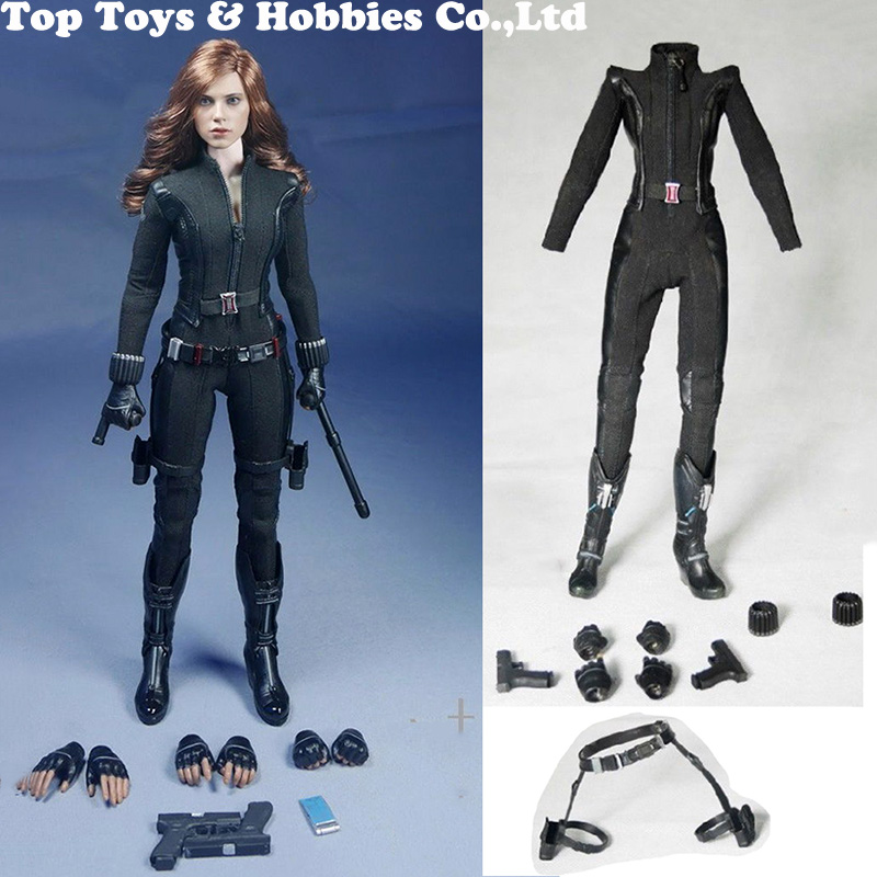 Custom SO-Toys SO-T01/SO-T03 1/6 Scarlett Johansson Black Widow Battle suit Clothes Set For 12 inches PH Doll Body FigureCustom SO-Toys SO-T01/SO-T03 1/6 Scarlett Johansson Black Widow Battle suit Clothes Set For 12 inches PH Doll Body Figure