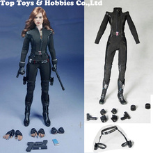 Custom SO-Toys SO-T01/SO-T03 1/6 Scarlett Johansson Black Widow Battle suit Clothes Set For 12 inches PH Doll Body Figure все цены