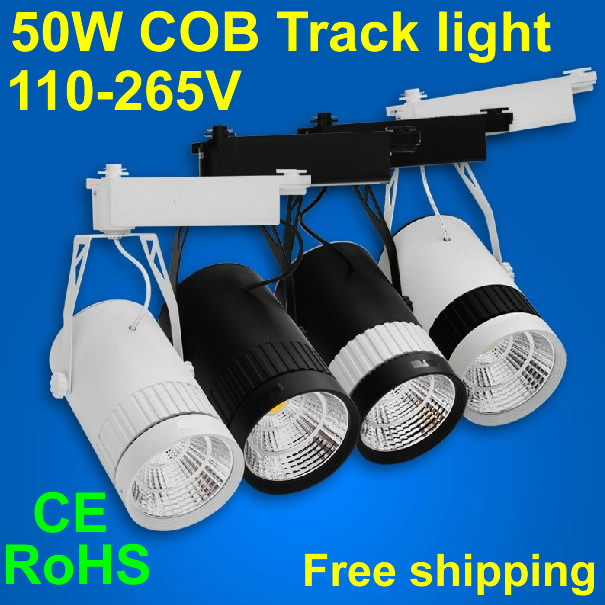 LED track light 50W,Led cob,Led rail,Modern track light,Led wall cob,Clothing store,Showroom,Museum,3100-10000K,CE RoHS
