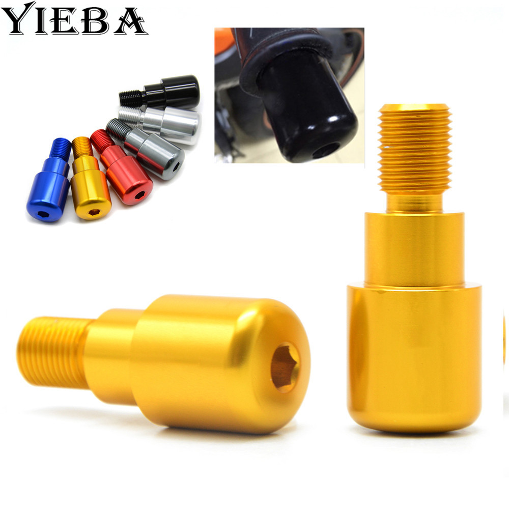 Motorcycle CNC 7/8'' 22MM Handlebar Grips Ends Bar Ends For YAMAHA YZF R125 2008 2009 2010 2011 2012 2013 MT-09 2014 2015