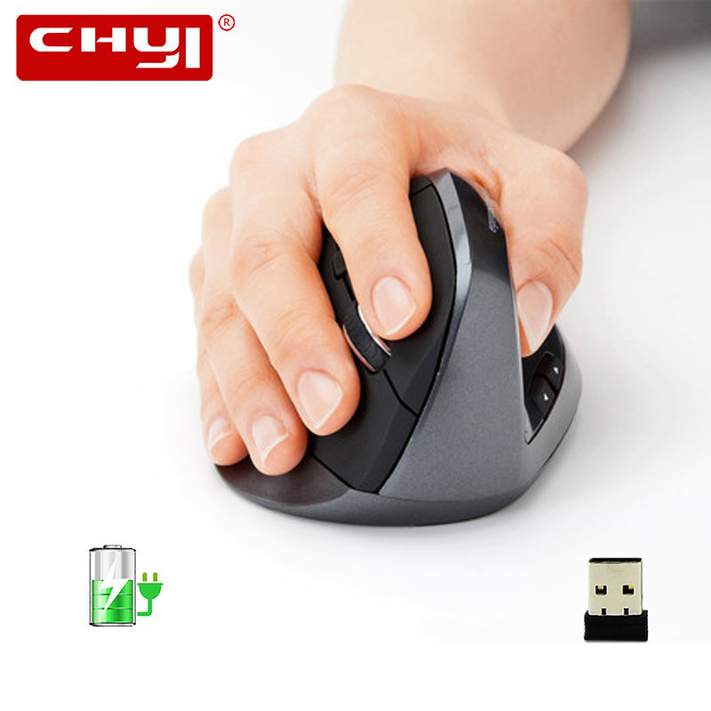 Wireless Vertical Mouse Rechargeable Computer Gaming Mice Ergonomic 5D Optical Office Mause With Wrist Rest Mouse