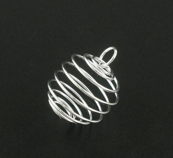 DoreenBeads 20 SPกรงลูกปัดเกลียวผลการวิจัยจี้25x20มิลลิเมตร(B07111) yiwu