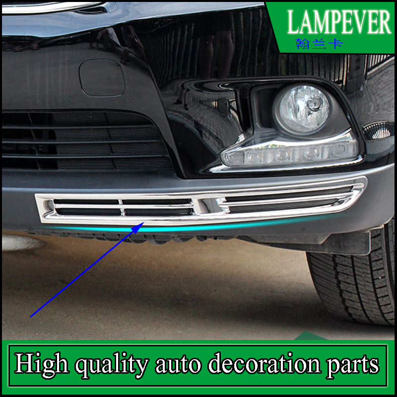 FIT FOR TOYOTA HIGHLANDER 2015 2016 Front BUMPER CORNER FOG LIGHT CHROME COVER TRIM GARNISH MOLDING LAMP BEZEL CAR STYLING