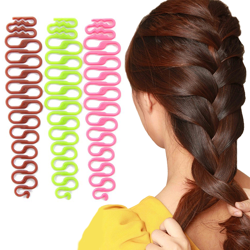 Hot  Fashion Professional DIY Women Hair Braiding Tool Girls Centipede Braider Magic Hair Twist Hair Styling
