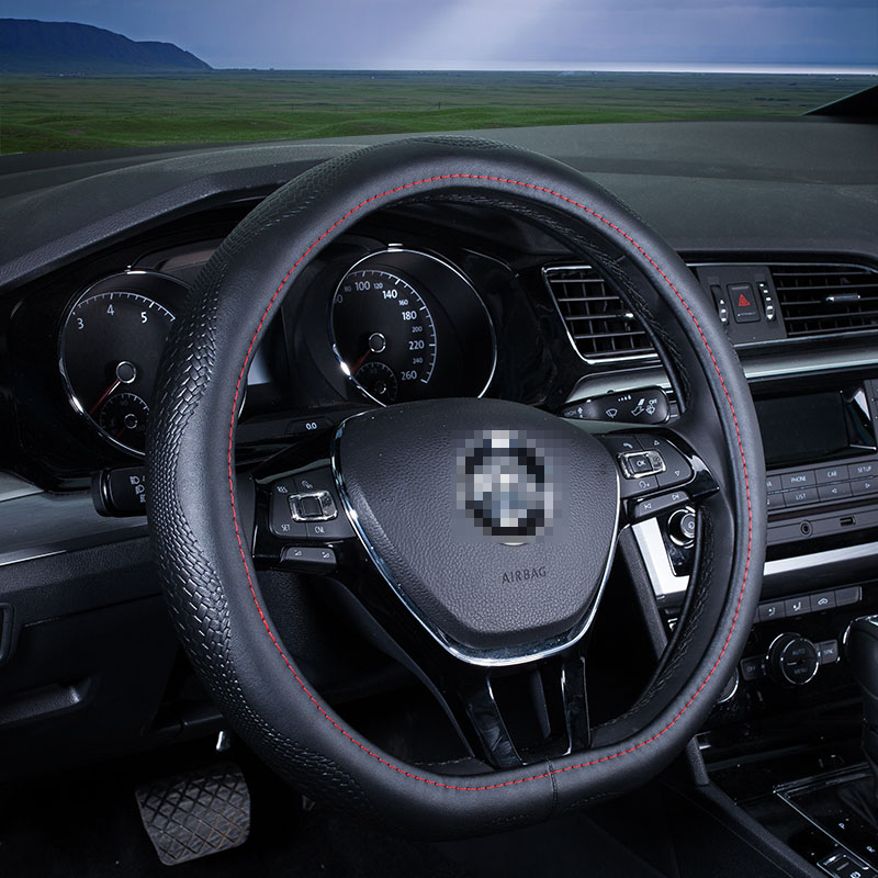 D Ring Car Steering Wheel Cover Leather For Volkswagen Vw