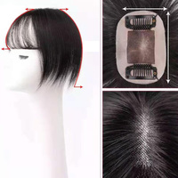 Full Shine 6D Clip in Bangs 100% Remy Human Hair Bangs Without Hair Temples Clip in One Piece Striaght Fringe Hairpiece